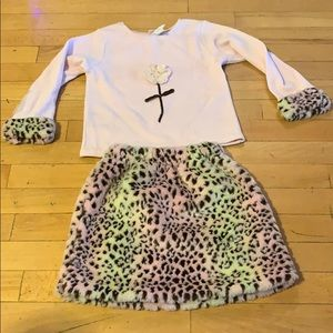Cache cache outfit size 5 pink &leopard